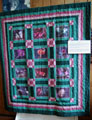 Wildflower quilt made and donated by Alice Parker